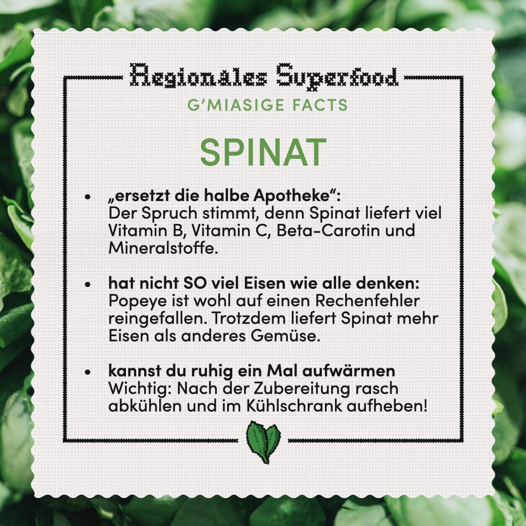 Superfood Spinat